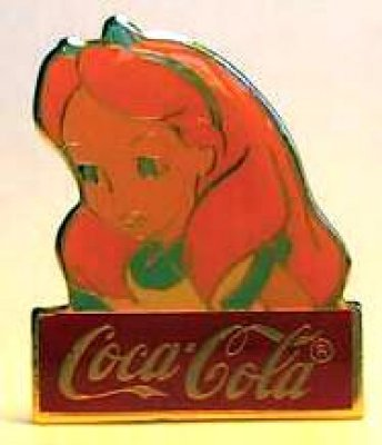 Alice in Wonderland Coca-Cola Disney pin