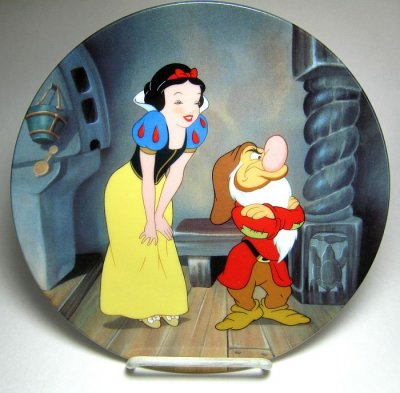 Stubborn Grumpy decorative plate