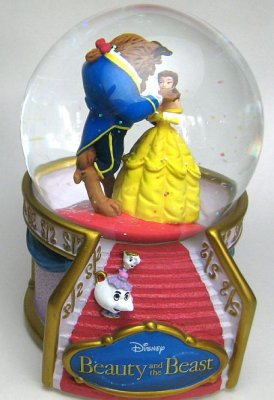 Belle and Beast musical snowglobe (Westland)