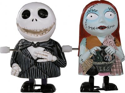 Jack Skellington and Sally wind-up toy set