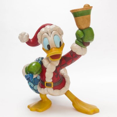 39 ring in the holidays 39 santa donald duck with bell big. Black Bedroom Furniture Sets. Home Design Ideas