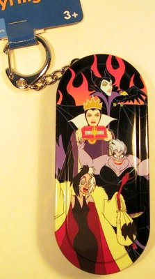 Villains hinged tin box keychain from our Keychains