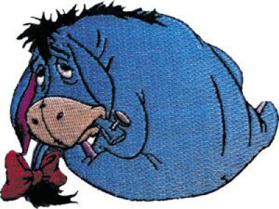 Eeyore back cloth patch