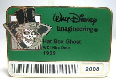 Hat Box Ghost Walt Disney Imagineering Staff Id Badge