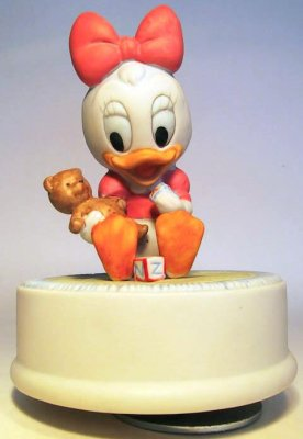 Baby Daisy Duck With Rattle Music Box From Our Other