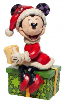 'Chocolate Delight' - Santa Minnie Mouse with hot chocolate figurine (Jim Shore Disney Traditions)