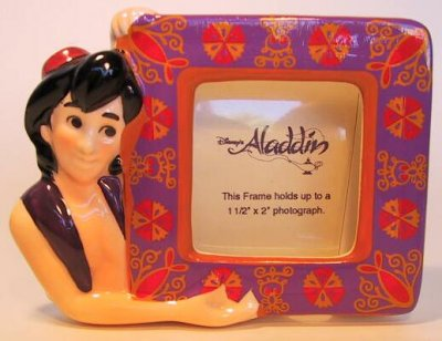 Aladdin ceramic photo frame magnet