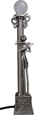 Jack Skellington pewter desk lamp