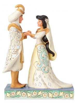 A Wish Come True Aladdin And Jasmine Wedding Figurine