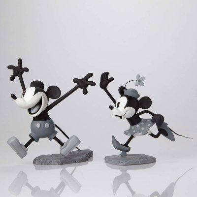 Mickey and Minnie Mouse black-and-white maquette set (WDAC)