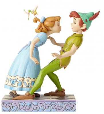 'An Unexpected Kiss' - Peter Pan, Wendy, and Tinker Bell figurine (Jim Shore Disney Traditions)