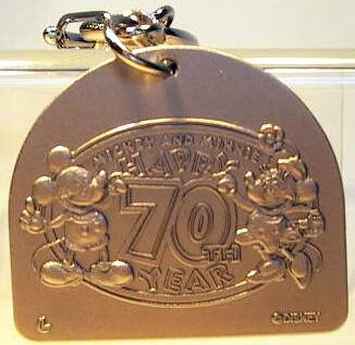 Mickey Mouse Amp Minnie Mouse S 70th Birthday Keychain From