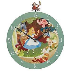 disney alice in wonderland mad hatter wall clock