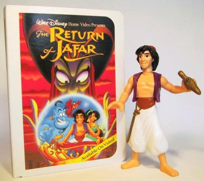 Aladdin with lamp fast food toy