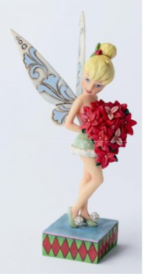 Holiday in full bloom - Tinker Bell with poinsettias figure (Jim Shore Disney Traditions)
