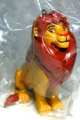 Adult Simba sitting PVC ornament