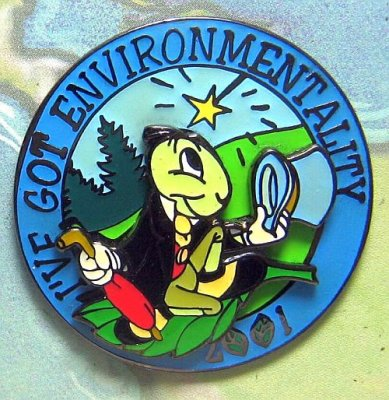 I've got environmentality - 2001 pin, featuring Jiminy Cricket