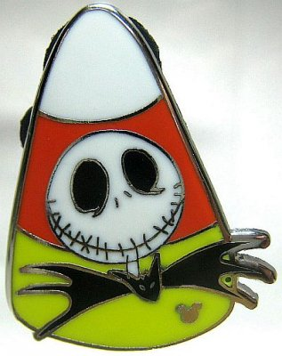 Jack Skellington Candy Corn Hidden Mickey Pin From Our