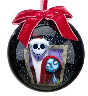 jack skellington and sally decoupage ornament 2011 - Jack Skeleton Christmas Decorations