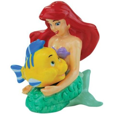 Ariel and Flounder magnetized salt and pepper shaker set