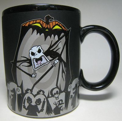 Jack Skellington Scary Face color change thermal mug
