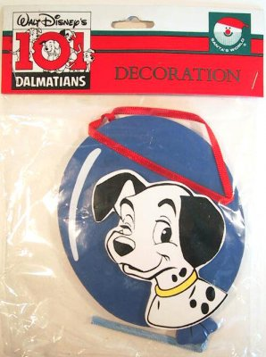 Blue Puppy Food >> Lucky with blue balloon wooden ornament from our Christmas collection | Disney collectibles and ...