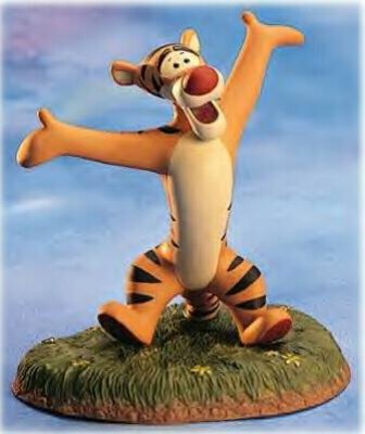 'Congratulations to you-hoo-hoo.' Tigger Figurine