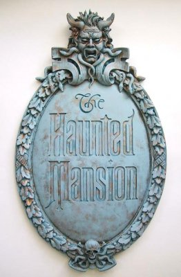 Reproduction of the Haunted Mansion sign
