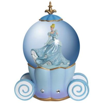 Cinderella and coach musical snowglobe