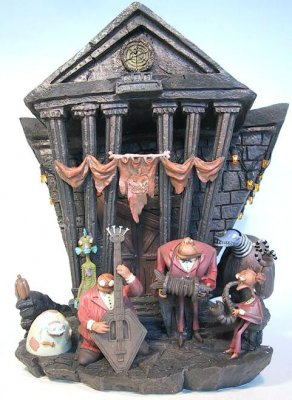 Nightmare Before Christmas Houses.Halloweentown Town Hall Light Up House From Our Nightmare