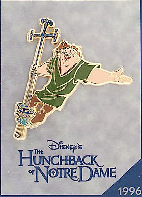 'The Hunchback of Notre Dame' Disney Store 30th anniversary pin
