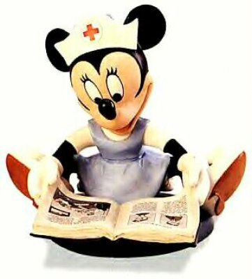 Student nurse Minnie Mouse Disney figurine (WDCC)