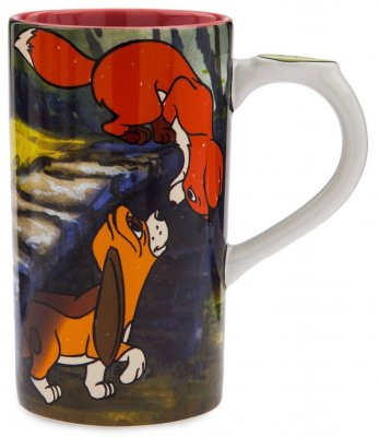 'Believe in Friendship' - Tod and Copper tall Disney coffee mug