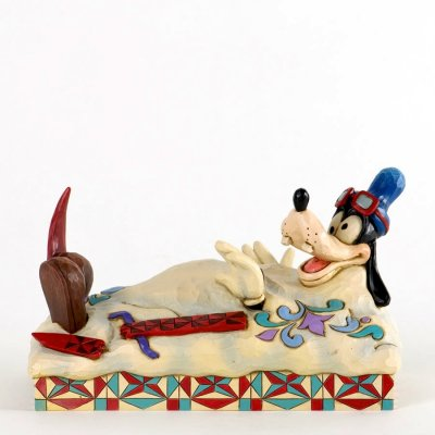 'How to Ski' - Goofy skiing figurine (Jim Shore Disney Traditions)