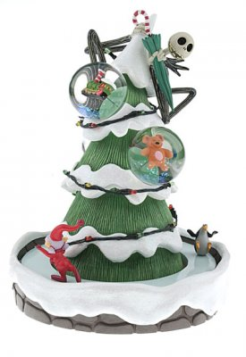 jack skellington christmas tree 3 in 1 musical snowglobe - Jack Skellington Christmas Tree