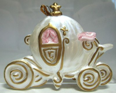 Cinderella S Coach Flat Ornament From Our Schmid Bros