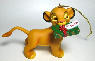 Simba With Gift For Nala Ornament Grolier From Our Christmas