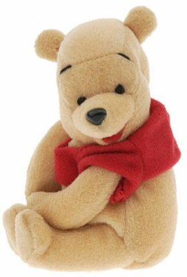 Pooh plush doll / soft toy, with magnetic paws