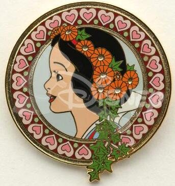 Disney Cookie Jars >> Snow White Art Nouveau profile pin from our Pins ...