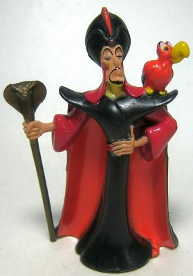 Disney Cookie Jars >> Jafar with Iago PVC figure from our PVCs collection ...