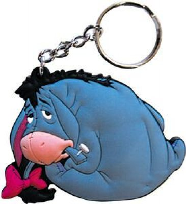 Disney Cookie Jars >> Eeyore back rubber keychain from our Keychains collection   Disney collectibles and memorabilia ...