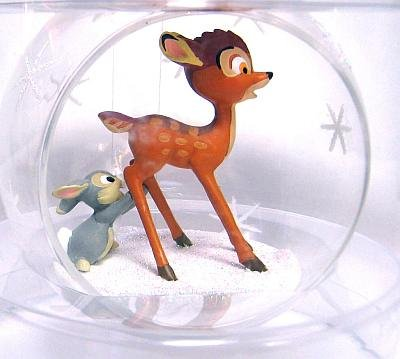 Bambi thumper on ice crystal ball ornament from our - Bambi on ice images ...