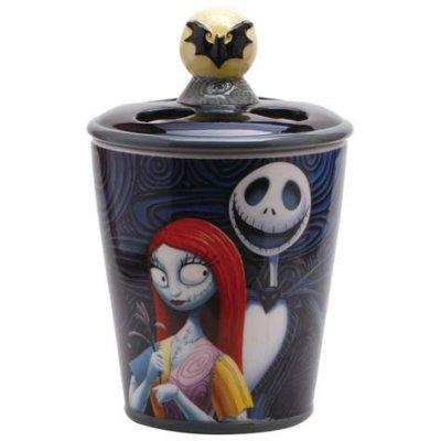 Disney Cookie Jars >> Jack Skellington and Sally toothbrush holder from our Nightmare Before Christmas Bathroom ...