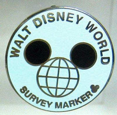 Walt Disney World Survey Marker Hidden Mickey Pin From