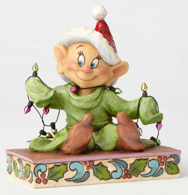 'Light Up The Holidays' - Dopey figurine (Jim Shore Disney Traditions)