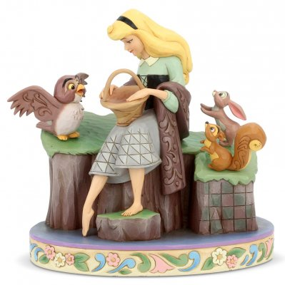 'Beauty Rare' - Sleeping Beauty and woodland creatures figurine (Jim Shore Disney Traditions)