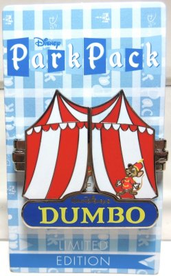 Dumbo in tent hinged 3D 'Park Pack' Disney pin
