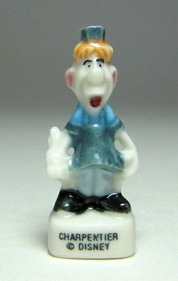 Carpenter porcelain miniature figure