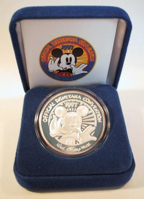 Mickey Mouse solid silver Disneyana Convention 1997 coin