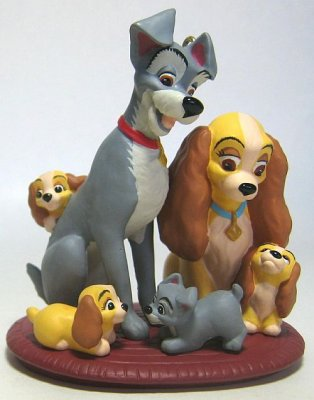 Lady And Tramp And Puppies Ornament Hallmark From Our Christmas Collection Disney Collectibles And Memorabilia Fantasies Come True
